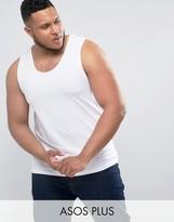 Asos PLUS Muscle Tank In White