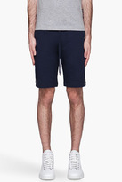 Moncler Navy signature-striped Sweat Shorts