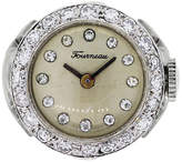 One Kings Lane Vintage Tourneau 14k Diamond Ring Watch