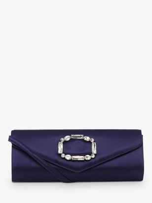 Hobbs Evie Jewel Clutch Bag, Blue