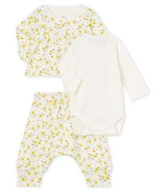 Petit Bateau Baby Girls' Ensemble 3 Pieces_5068901 Clothing Set,86 (Size: /81centimeters)