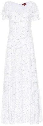 STAUD Pelicano flocked crepe dress
