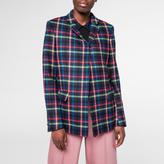 Paul Smith Women's Multi-Colour Check Wool Blazer
