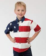 Roper White Stars & Stripes Button-Up - Boys