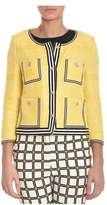 Atos Lombardini Women's Yellow Cotton Cardigan.