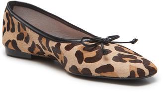 Schutz Arissa Leopard-Print Fur Ballet Flats