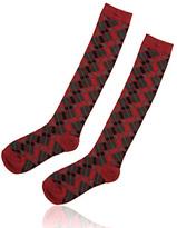 Mini Argyle Knee High Socks