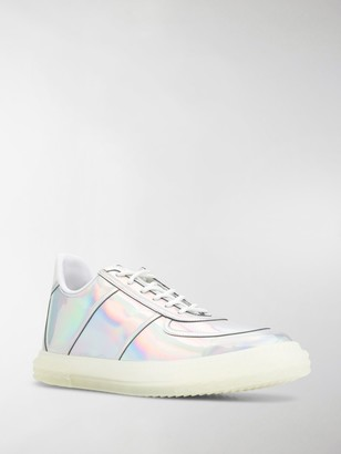 Giuseppe Zanotti Low Top Holographic-Effect Sneakers