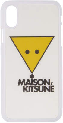 MAISON KITSUNÉ White Winking Hologram Fox iPhone X Case