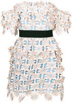 Self-Portrait 3D Floral mini dress - women - Polyester - 8