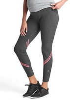 Gap GapMaternity GapFit gFast full panel reflective stripe leggings
