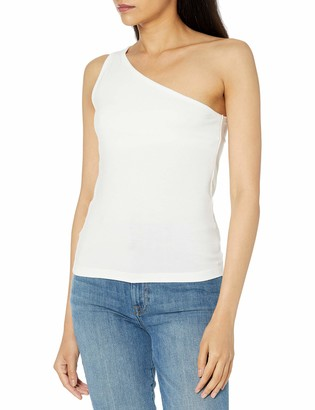 The Drop Women's Payton Asymmetric Fitted One-Shoulder Top
