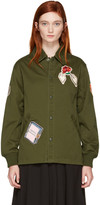 Opening Ceremony Green Gestures Coach Jacket