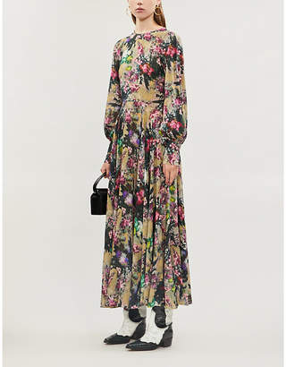 Rotate by Birger Christensen Floral-print chiffon maxi dress