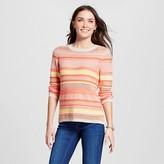 Jillian Nicole Women's Mixed Stitch 3/4 Sleeve Pullover