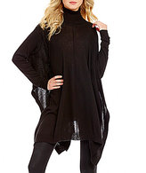 Elan ELAN Turtleneck Long Sleeve Pullover Oversized Sweater