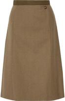 Maison Margiela Wool-gabardine Skirt - Army green