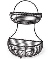 Mikasa 2-Tier Flat-Back Basket