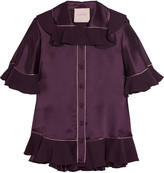 Roksanda Rosler ruffled silk-satin blouse