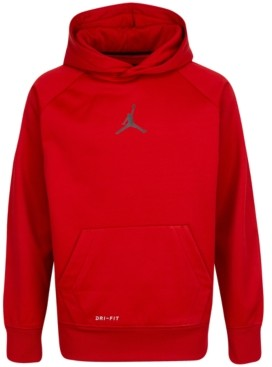 Jordan Big Boys Dri-fit Therma Fleece Hoodie