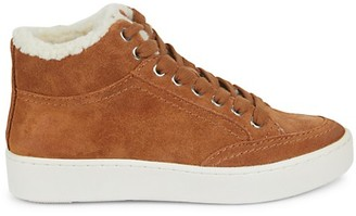 Dolce Vita Trudie Suede Faux Fur Mid-Top Runners