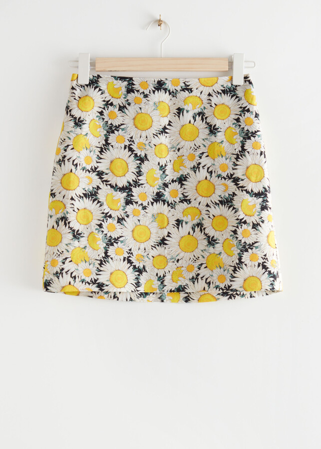 Thumbnail for your product : And other stories Linen Blend A-Line Mini Skirt