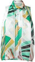 Emilio Pucci geometric print top - women - Silk - 38