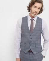 Ted Baker Checked Wool Waistcoat Grey