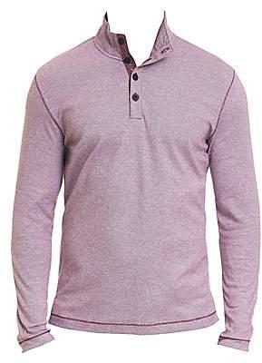 Robert Graham Men's Leonard Piqué Cotton Quarter-Button Pullover