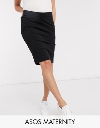 ASOS DESIGN Maternity under bump pencil skirt