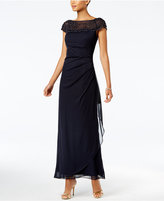MSK Beaded A-Line Gown