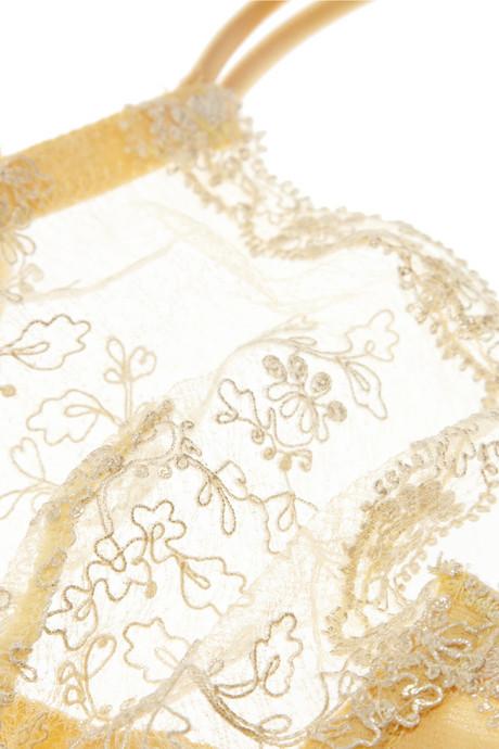 La Perla Sparkling Jasmine embroidered stretch-tulle underwired bra