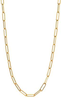 """Zoe Lev 14K Yellow Gold Paper Clip Chain Necklace, 18"""""""