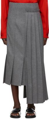Marni Grey Pleated Skirt