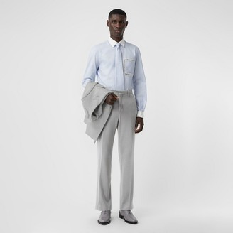 Burberry English Fit Cashmere Silk Jersey Tailored Trousers