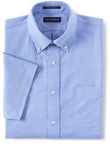 Classic Men's No Iron Traditional Fit Supima Oxford Dress Shirt-Rich Sapphire