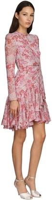 Giambattista Valli Printed Silk Blend Georgette Mini Dress