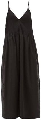 Sir. Alina Pintucked Cotton-blend Midi Dress - Black