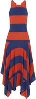 Stella McCartney Asymmetric striped silk dress
