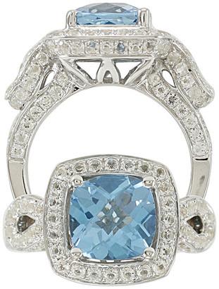 Suzy Levian Diamonds Suzy Levian Silver 5.36 Ct. Tw. Diamond & Topaz Ring