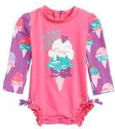 Hatley Ice Cream One-Piece Rashguard Swimsuit