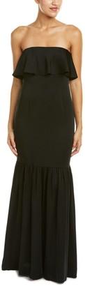 Jill Stuart Jill Women's Strapless Ruffle Satin Gown