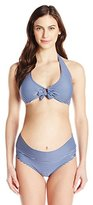 Prego Maternity Women's Maternity Striped Roll Waist Bikini