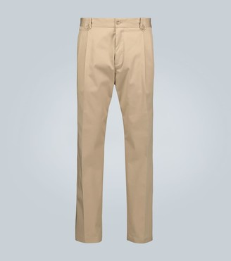 Dolce & Gabbana Double-pleated stretch-cotton pants