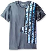 William Rast Men's Abstract Flag Graphic Tee
