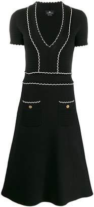 Elisabetta Franchi textured knitted dress