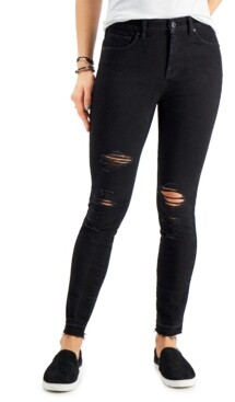 Style&Co. Style & Co High-Rise Destructed Skinny Ankle Jeans, Created for Macy's
