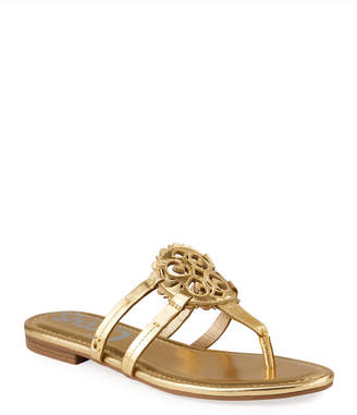 Sam Edelman Clara Metallic Medallion Thong Flat Sandals