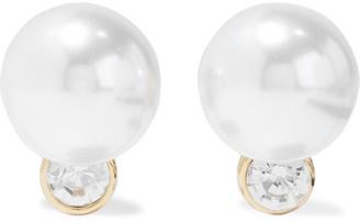 Kenneth Jay Lane Gold-plated, Faux Pearl And Crystal Clip Earrings
