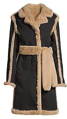 Opening Ceremony Women's Reversible Faux Fur Coat